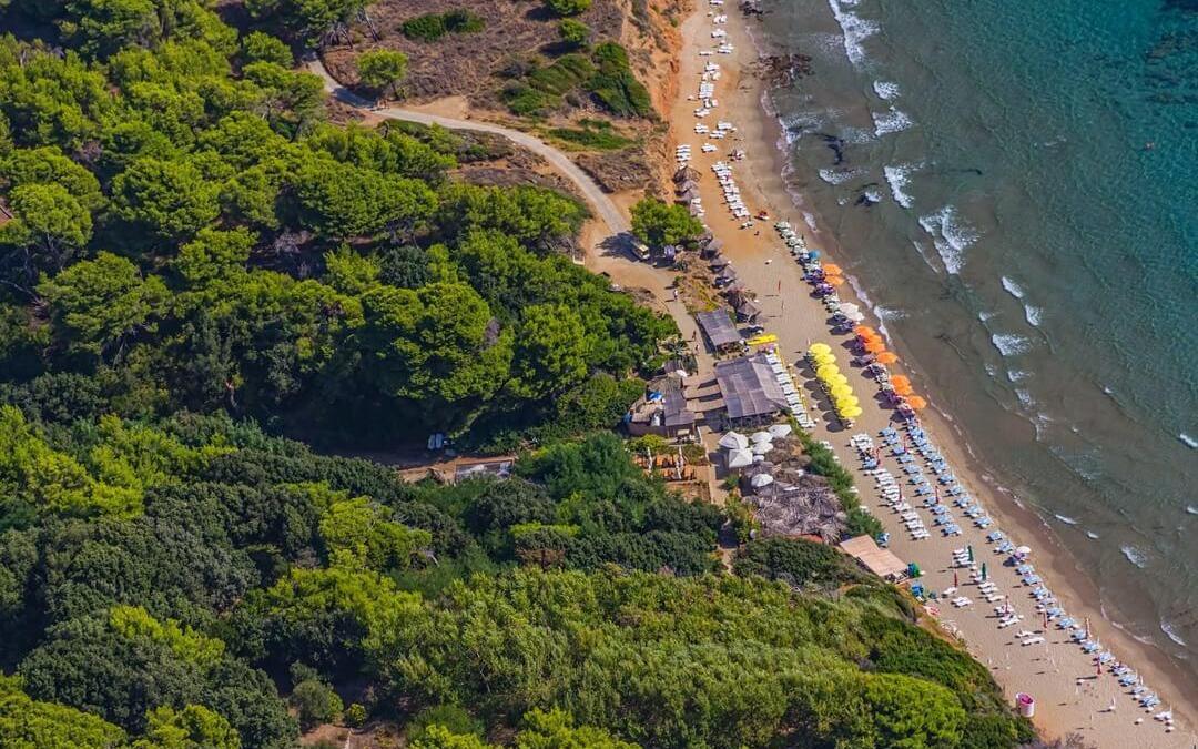 The sandy island