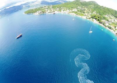 Lopud Island Adriatic Sea and mountains