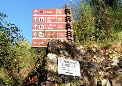Sign on the way to Lopud's highest point